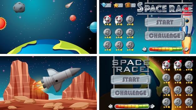Ensemble de jeux spatiaux