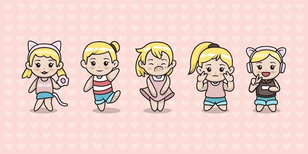 Ensemble de jolie fille kawaii