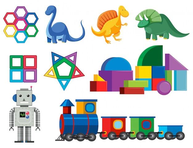 Un ensemble de jouets de bébé colorés