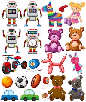 Ensemble de jouets différents
