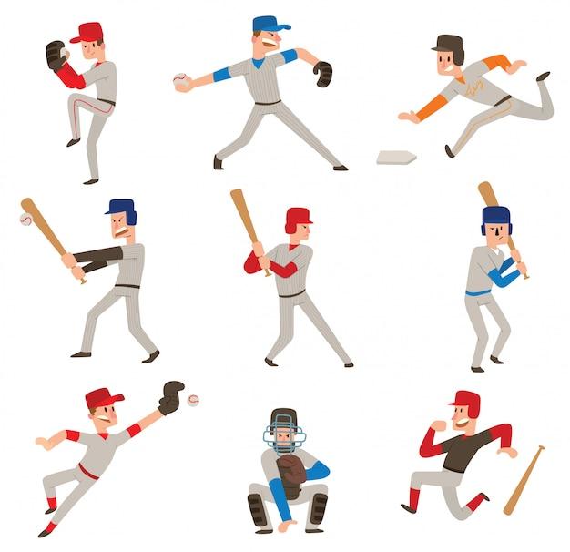 Ensemble de joueur de baseball.