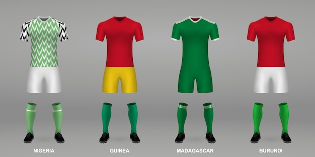Ensemble de kits de football réalistes