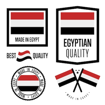 Ensemble de labels de qualité d'egypte