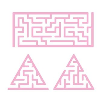Un ensemble de labyrinthes.