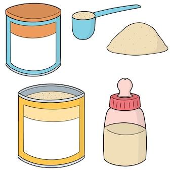 Ensemble de lait en poudre