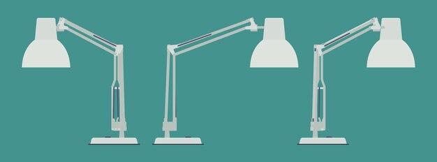 Ensemble des lampes de bureau