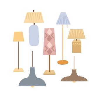 Ensemble de lampes pour la maison