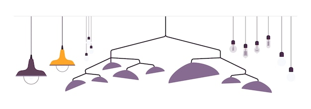 Ensemble de lampes suspendues