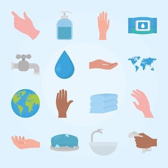Ensemble de lavage des mains mondial