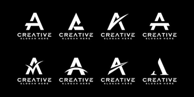 Ensemble de lettre initiale a modèle de conception de logo
