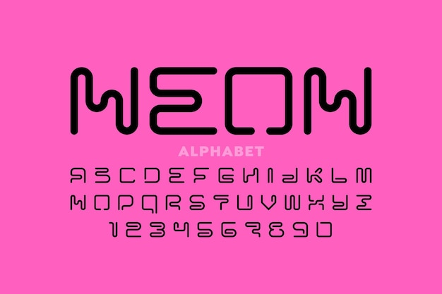 Ensemble de lettres et de chiffres de l'alphabet