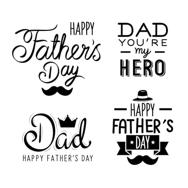 Ensemble de lettres de fête des pères