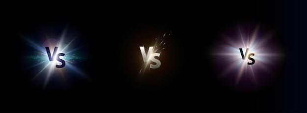 Ensemble de lettres logo versus