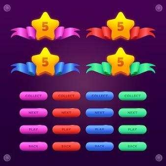 Ensemble de levier étoile vers le haut et bouton