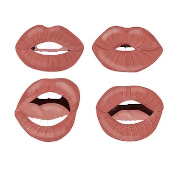 Ensemble de lèvres sexy