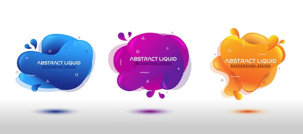 Ensemble liquide fluide abstrait moderne