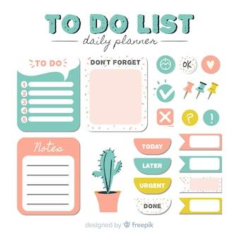 Ensemble de listes à faire