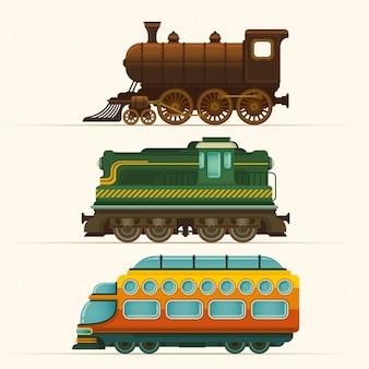 Ensemble de locomotives
