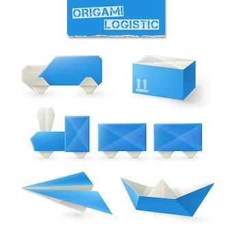 Ensemble logistique en origami