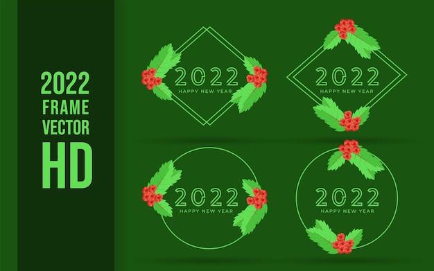 Ensemble de logo 2022 bonne année
