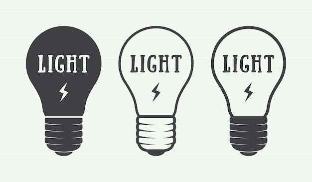 Ensemble de logo d'ampoule
