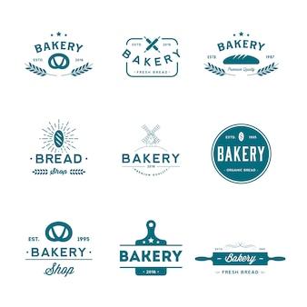 Ensemble de logo de boulangerie.