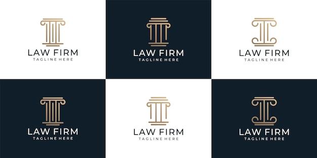 Ensemble de logo de cabinet d'avocats