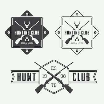 Ensemble de logo de chasse