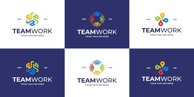 Ensemble de logo de communauté ou de logo de clinique médicale