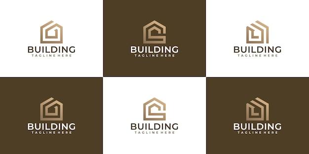 Ensemble de logo de construction