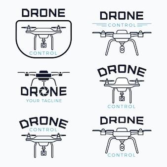 Ensemble de logo de drone design plat