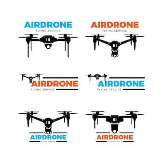 Ensemble de logo de drone