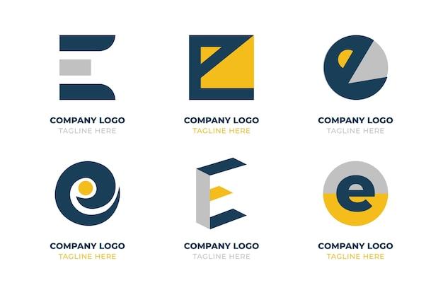 Ensemble de logo e design plat