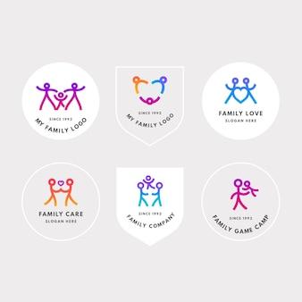 Ensemble de logo de famille