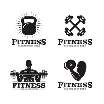 Ensemble de logo de fitness