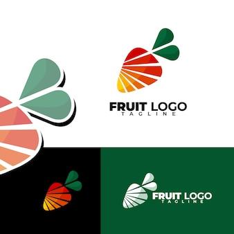 Ensemble de logo de fruits simple et moderne