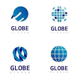 Ensemble de logo globe