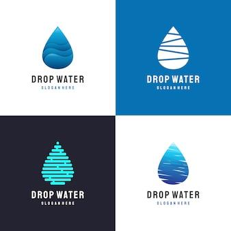 Ensemble de logo goutte d'eau