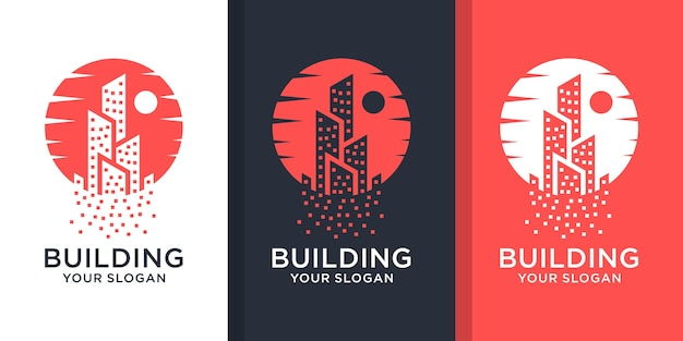 Ensemble de logo immobilier inspirant