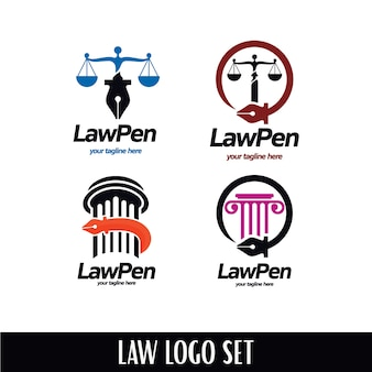 Ensemble de logo law pen