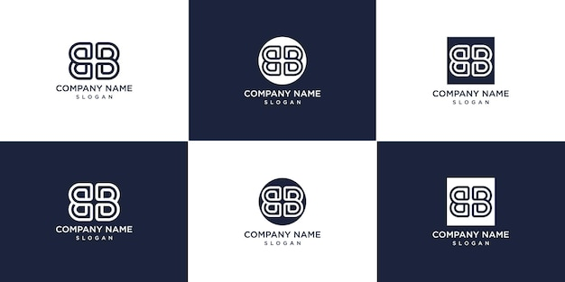 Ensemble de logo de lettre bb