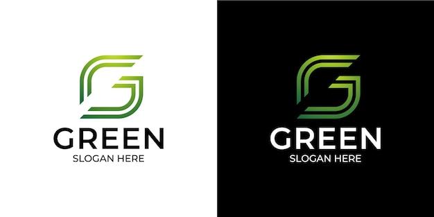 Ensemble de logo de la lettre g initiale dans un style moderne