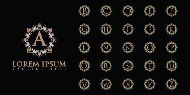 Ensemble de logo de lettres luxueuses