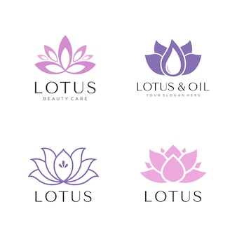 Ensemble de logo de lotus