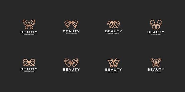Ensemble de logo de luxe minimaliste