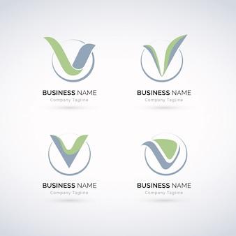 Ensemble de logo de luxe v