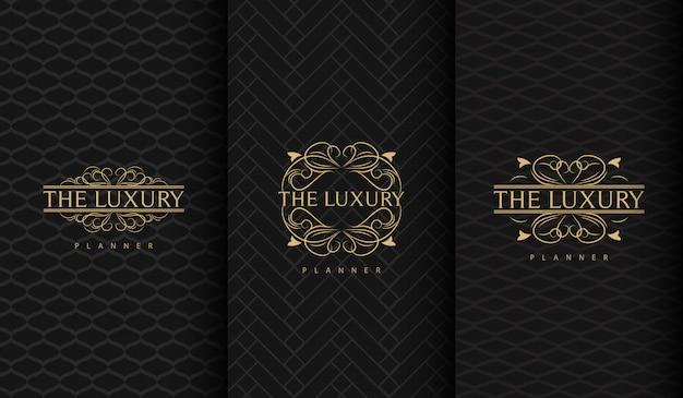 Ensemble de logo de luxe