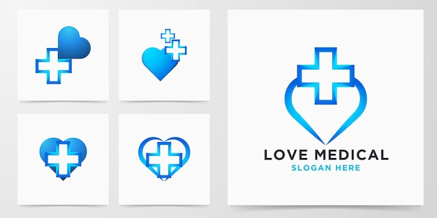 Ensemble logo médical amour