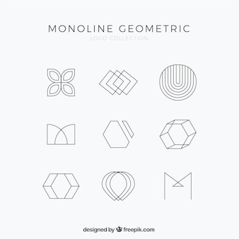 Ensemble de logo monoline simple