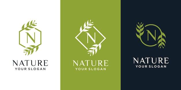 Ensemble de logo naturel et biologique
